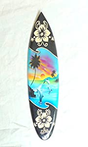 Miniatur Deko Surfboard Surfbrett Holz Wellenreiten Höhe 30 cm inkl....