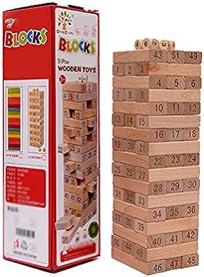 Puzzle bloques de los niños Juguetes de interacción entre padres e hijos, rompecabezas de los niños de bombeo bloques de madera de juego, sistemas Jenga agrupamiento de alto Jigsaw apilamiento de jugu: