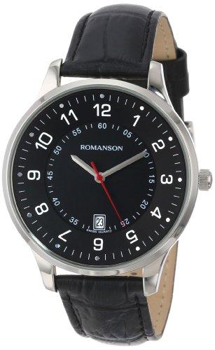 Romanson Men's TL0386MM1WA32W Modern Swiss Quartz Date Function Watch