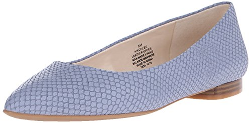 5 38 M Flat B Leather Blue 5 Nine Ballet Medium Leather West Women'S Onlee UK M 6 B EU SqxZRH