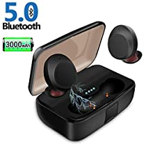 Bluetooth Earbuds, JoyGeek Wireless Headphones TWS Stereo Hi-Fi Sound IPX7 Waterproof Earphones Noise Cancelling Headphones with Built-in Microphone and Charging Case for iPhone / Samsung / iPad and Most Android Phones