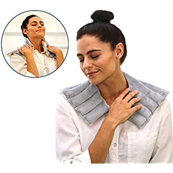 Heating Pad Solutions - Microwavable Heating Pads for Shoulder and Neck   Reusable and Natural Hot Packs for Pain Relief   Used for Sore Neck, Aching Shoulders, Muscle Pain, Arthritis & Stiff Joints