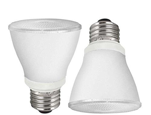 TCP LED PAR20 - 50 Watt Equivalent (9W) Soft White (3000K) Dimmable Spot Flood Light Bulb (2 Pack)