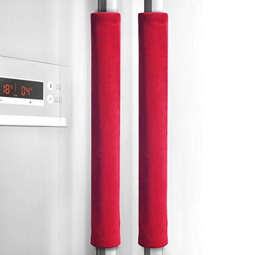 Handle Door Red - Refrigerator Door Handle Cover Kitchen Appliance Decor Handles Antiskid Protector Gloves for Fridge Oven Keep off Fingerprints,Liquid,Oil Stain,Food Spot,2 pieces (16