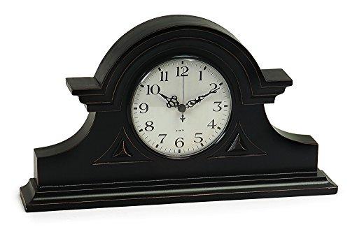 IMAX Black Mantel Clock Decorative