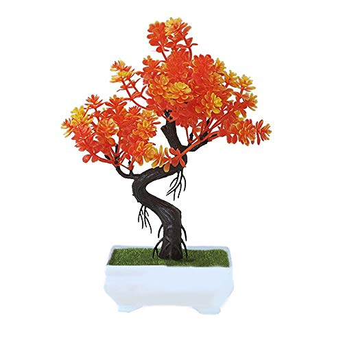TQ Bonsai Fortune Tree with Pot Artificial Plant Decoration for Home Office Desk ()
