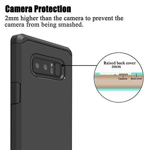 "Galaxy Note 8 Case, Venoro Shockproof Slim Anti Scratch Hybrid Dual Layer Armor Defender Protective Phone Case Cover for Samsung Galaxy Note 8 6.3"" 2017 Release"