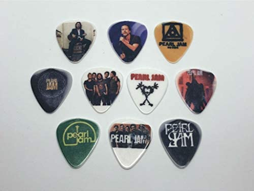 PEARL JAM Guitar Picks Set (10 picks/10 diferent designs)
