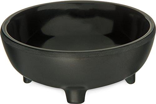 Carlisle 087303 Molcajete Ramekin, 3 oz. Black, (Black Melamine Salsa Dish)