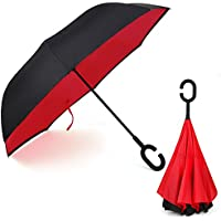Rainlax Inverted Umbrella Double Layer Windproof UV Protection Sun&Rain Car Reverse folding Umbrellas