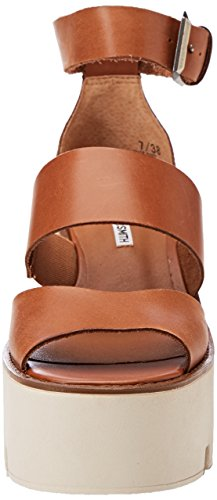 Sandali Puffy Plateau Tan Donna Marrone con Leather Smith Windsor EqTwS5q6