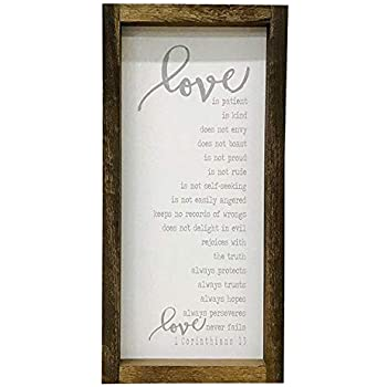Madi Kay Designs Love is Patient Love is Kind 1 Corinthians 13 Wood Wall Art with