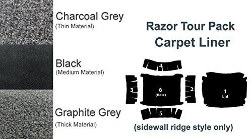 (Razor Tour Pak Pack Carpet Liner for 1993-2013 Harley-Davidson Touring Model Electra Glide, Road Glide, Road King, Street Glide (Black))