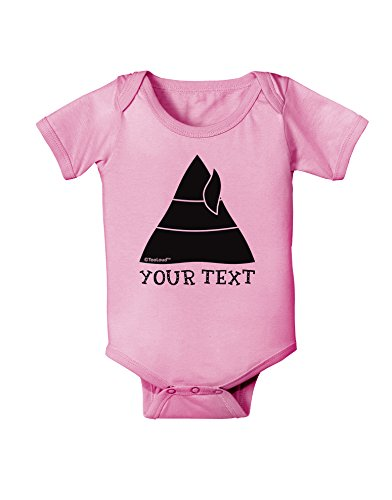 TooLoud Personalized Matching Elf Family Design - Your Text Baby Romper Bodysuit - Candy Pink - 12 Months