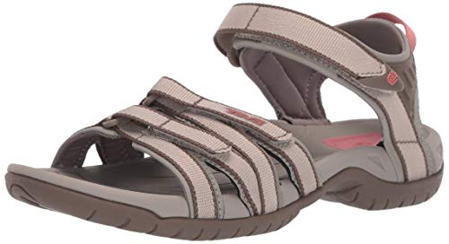 Teva Women's Tirra Sandal,Simply Taupe,8.5 M - Black Buckle Look New Wet