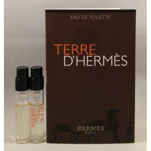 (2 Hermes Terre D'hermes EDT Spray Vial Sample .06 Oz/2 Ml Each)