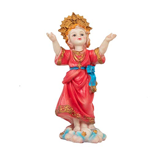 KI Store Divine Child Figurine Divino Nino Holy Child Religious Statue Resin Table Top Figure (Child Religious Figures)
