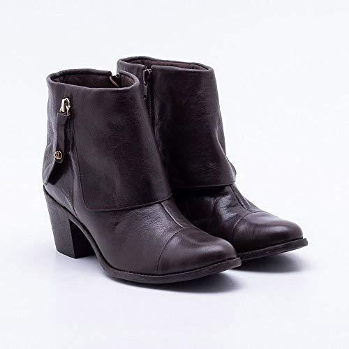 7046b70e0 Ankle Boot Comfy Couro Mocha 36 | iLovee