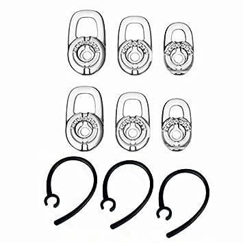Miayaya Juego de Ganchos de Repuesto para Auriculares Plantronics Voyager Edge M165 M55 M100 MX100 975 925 con Bluetooth