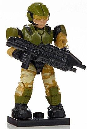 HA13-B4 Halo Wars Mega Bloks LOOSE Mini Green & Tan Camouflage Marine with Assault Rifle [Series 7]