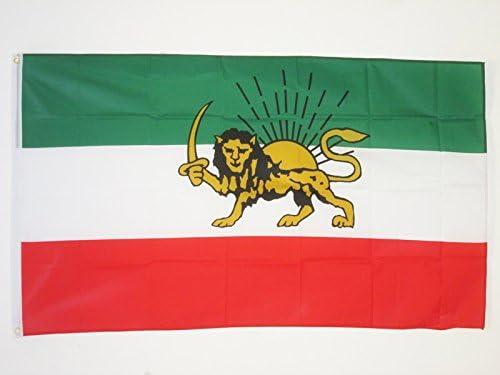 AZ FLAG Bandera IRÁN Antigua Persia 150x90cm - Bandera IRANÍ Antigua 90 x 150 cm: Amazon.es: Hogar
