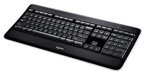 Logitech K800 Wireless Illuminated Keyboard - Backlit Keyboard, Fast-Charging, Dropout-Free 2.4GHz Connection