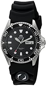 Orient Men's 'Ray II Rubber' Japanese Automatic Stainless Steel Diving Watch, Color:Silver-Toned (Model: FAA02007B9)