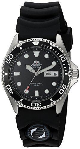 Orient Men's 'Ray II Rubber' Japanese Automatic Stainless Steel Diving Watch, Color:Silver-Toned (Model: FAA02007B9) (Long Island Watch)