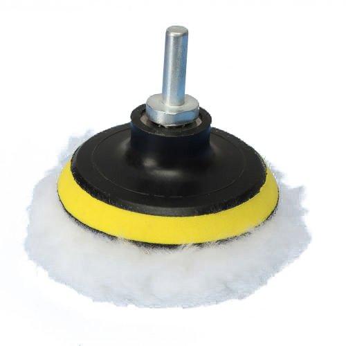 Kit de polissage - SODIAL(R)6pcs 3 pouces roue de polissage Pad Kit de polissage Auto Adaptateur avec M10 adaptateur de Drill 30%OFF