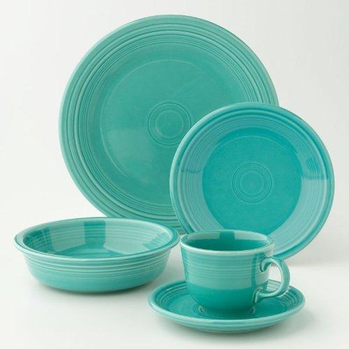 Fiesta Dinnerware 20 Piece Dining Set - Turquoise Blue - 855107 ()