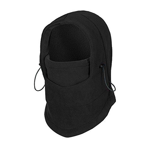 Elemart Children Winter Fleece Windproof Face Mask Kids Thermal Balaclava(Black) ()