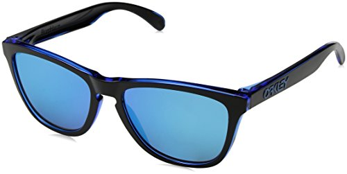 Oakley Men's Frogskins Non-Polarized Iridium Square Sunglasses, Eclipse Blue, 55 ()