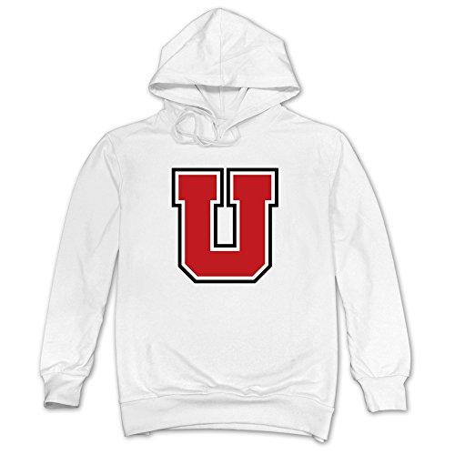 Men Utah Utes Christmas Hoodie White 100% Cotton