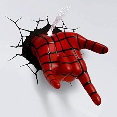 3D Wall Art Nightlight - Spiderman Hand: Home & Kitchen [5Bkhe0203922]