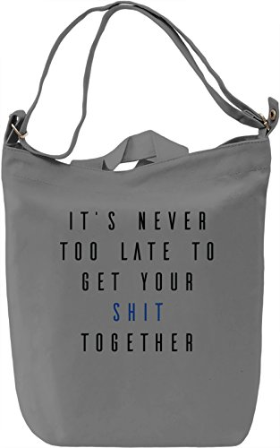 Get your shit together Borsa Giornaliera Canvas Canvas Day Bag| 100% Premium Cotton Canvas| DTG Printing|
