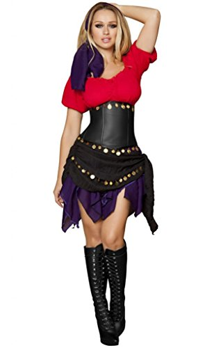 Sexy Slimming Renaissance Fair Gypsy Halloween (Moon Dancer Adult Costumes)