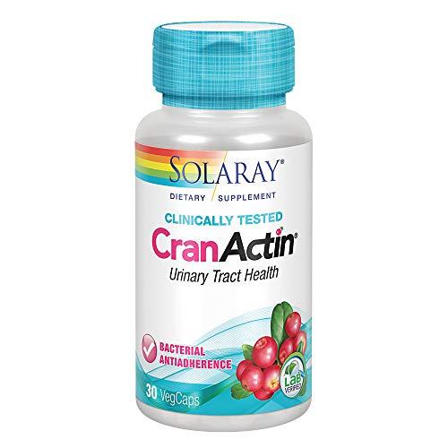 (Solaray Cranactin Cranberry AF Extract Vegetarian Capsules, 400 mg, 30 Count )