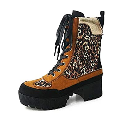 7e749c6d35e Amazon.com  Bambo Powerful 06S Womens Chunky Heel Platform Lug Sole  Military Combat Boots  Shoes