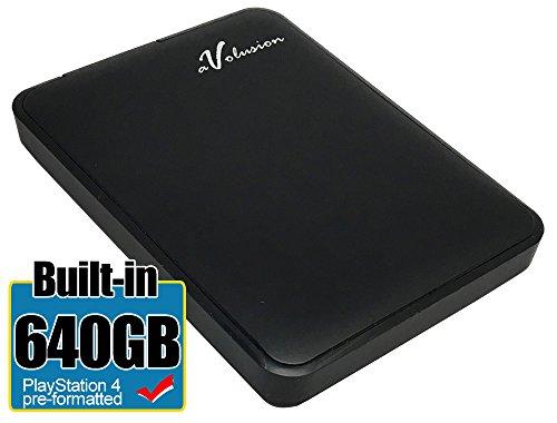 Avolusion 640GB USB 3.0 Portable External PS4 Hard Drive  HD