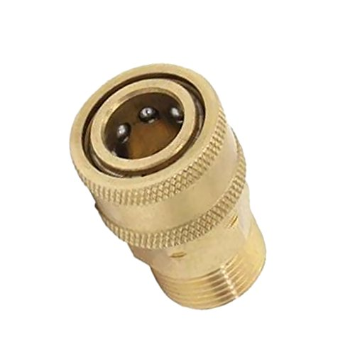 MonkeyJack 1x Brass Pressure Washer Quick Connect M22 to 1/4 Male Coupler Adapter