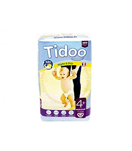 48 Disposable Night & Day Nappies - Size 4+ Maxi+ 9-20kg Tidoo 9465121