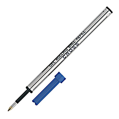 Designed Cross (Cross Blue Gel Ink Refills, Designed For Use with All Cross Selectip Pens (Pack of 6))