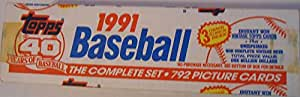1991 Topps Baseball Cards Complete Factory Set (792 cards) - Chipper Jones Rookie Year !!