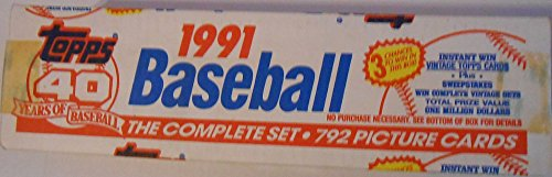 1991 Topps Baseball Cards Complete Factory Set (792 cards) - Chipper Jones Rookie Year -