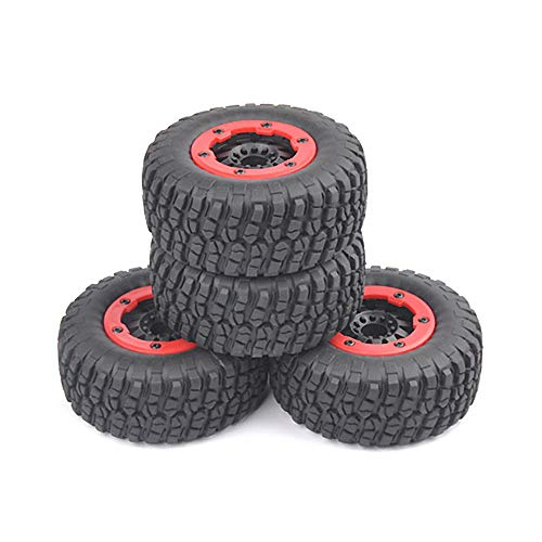 ANTSIR RC 1:10 TRAXXAS Slash Bead-Loc Tire Wheel Rims Short Course Rubber Tire(Pack of 4)