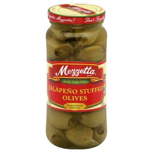 Mezzetta Jalapeno Stuffed Olives 10.0 OZ(Pack of 2) - Olives Jalapeno Green Stuffed