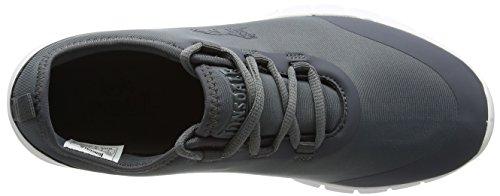 Lonsdale Zambia, Chaussures de Running Compétition Homme, Gris Anthracite/Blanc, 44 EU 10 UK