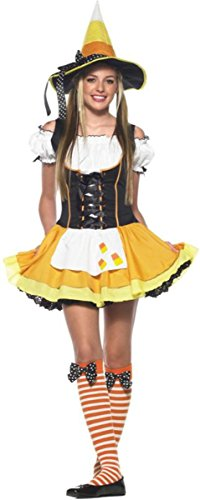 Kandy Korn Witch Adult Womens Costumes (Kandy Korn Witch Costume - Teen Medium/Large)