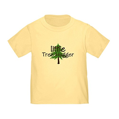 CafePress Little Tree Hugger Baby/Cute Toddler T-Shirt, 100% Cotton Daffodil Yellow