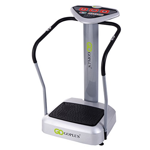 Goplus 1000W Full Body Vibration Platform Crazy Fit Massage Fitness Slim, Gray